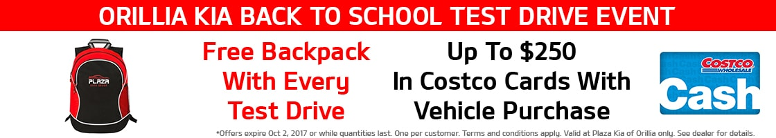 Back to School Event Backpack Offer