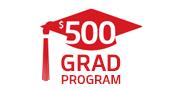 $500 Grad Rebate