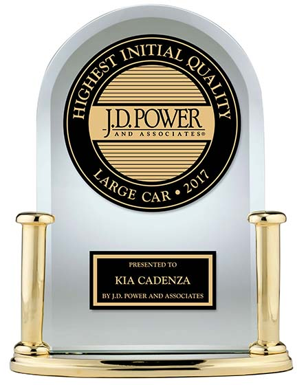 Kia Cadenza J.D. Power 2017 U.S. Initial Quality Study Winner