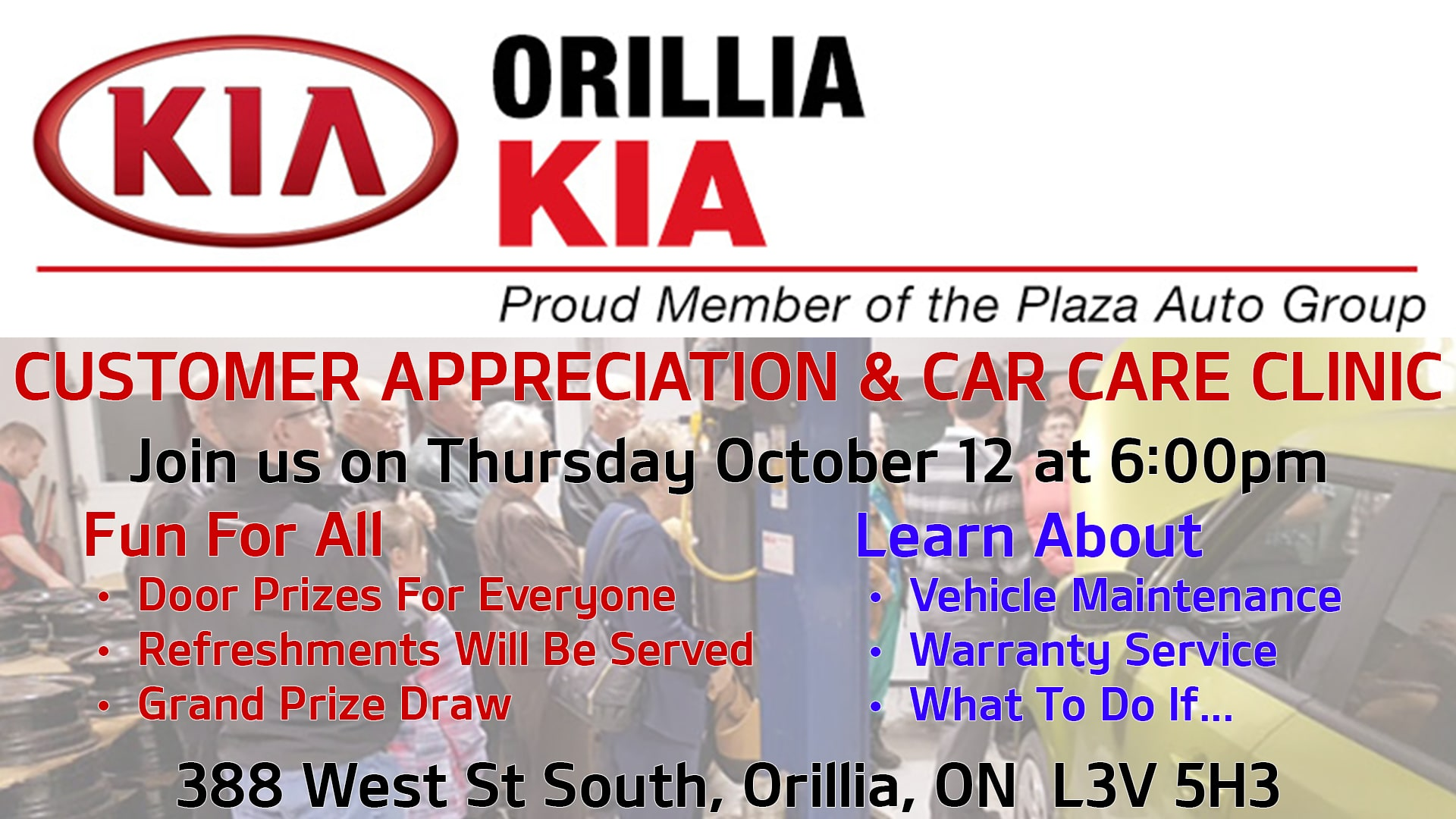 Customer Appreciation Evening October 12, 2017