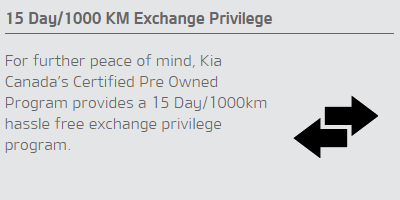 15 Day/1000 KM Exchange Privilege