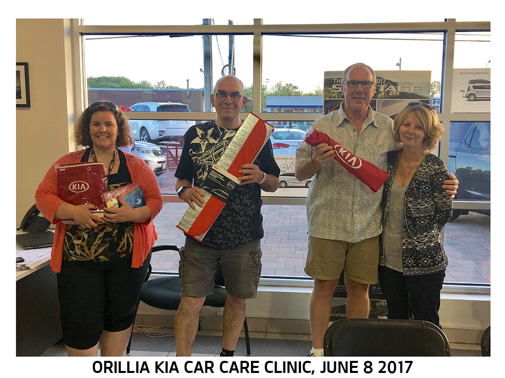Car Care Clinic Winners 06.08.2017