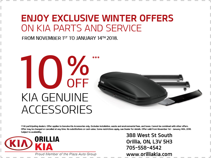 Kia Accessories Offer