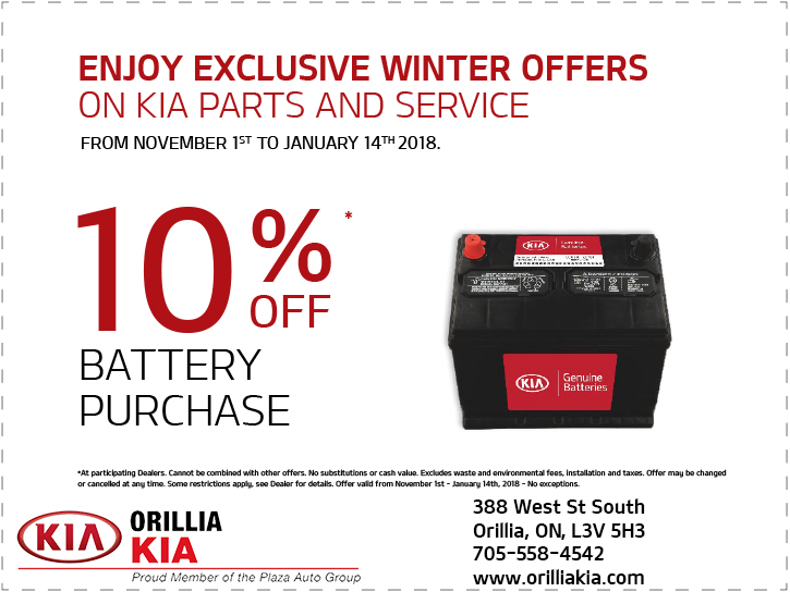 Kia Battery Offer
