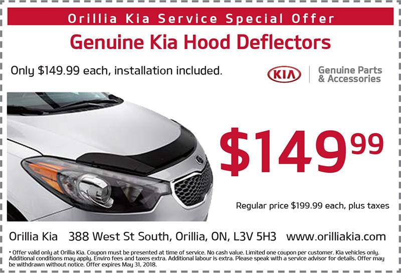 Genuine Kia Hood Deflectors