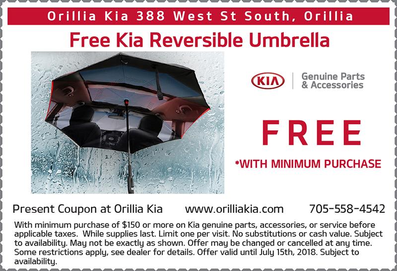 Free Kia Reversible Umbrella