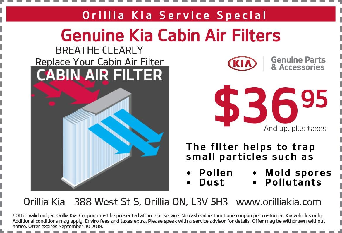 Kia Genuine Cabin Air Filters
