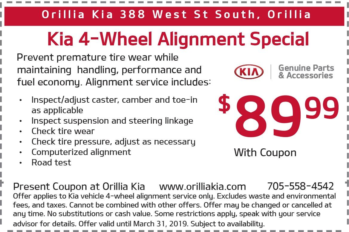 Kia 4-Wheel Alignment Special