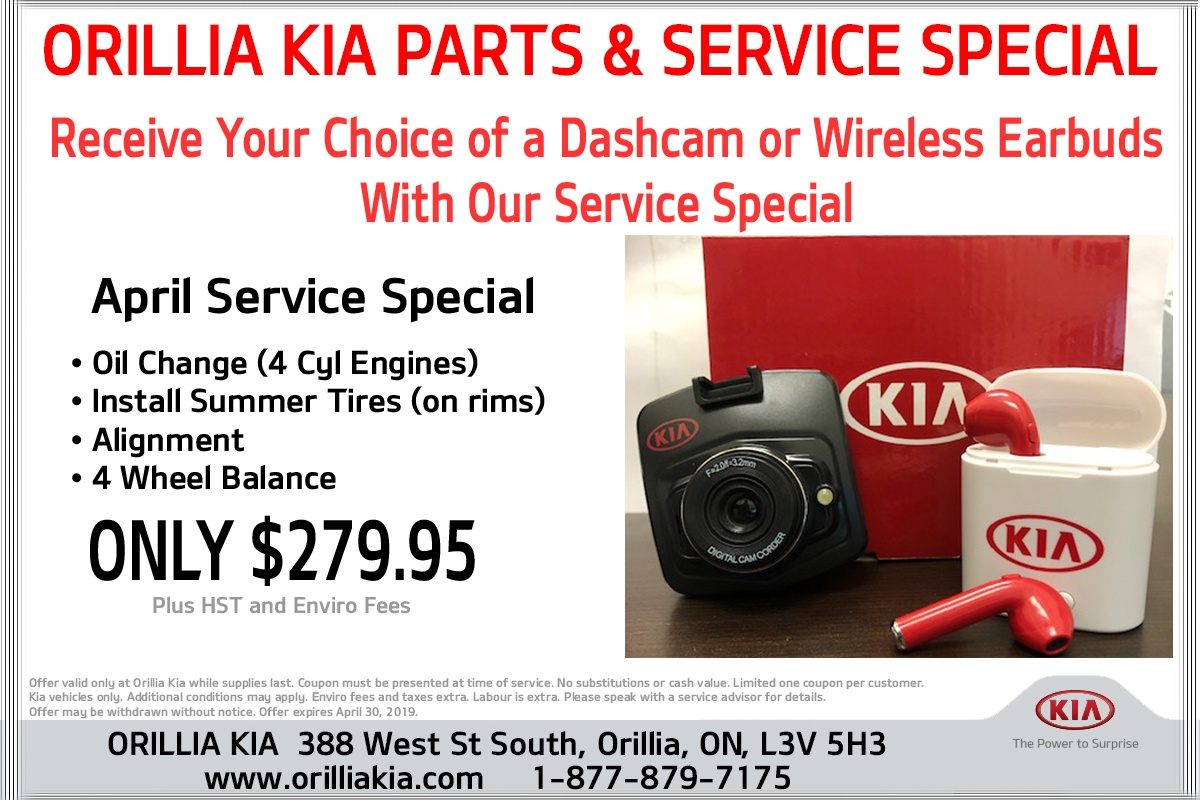 April Service Package Special
