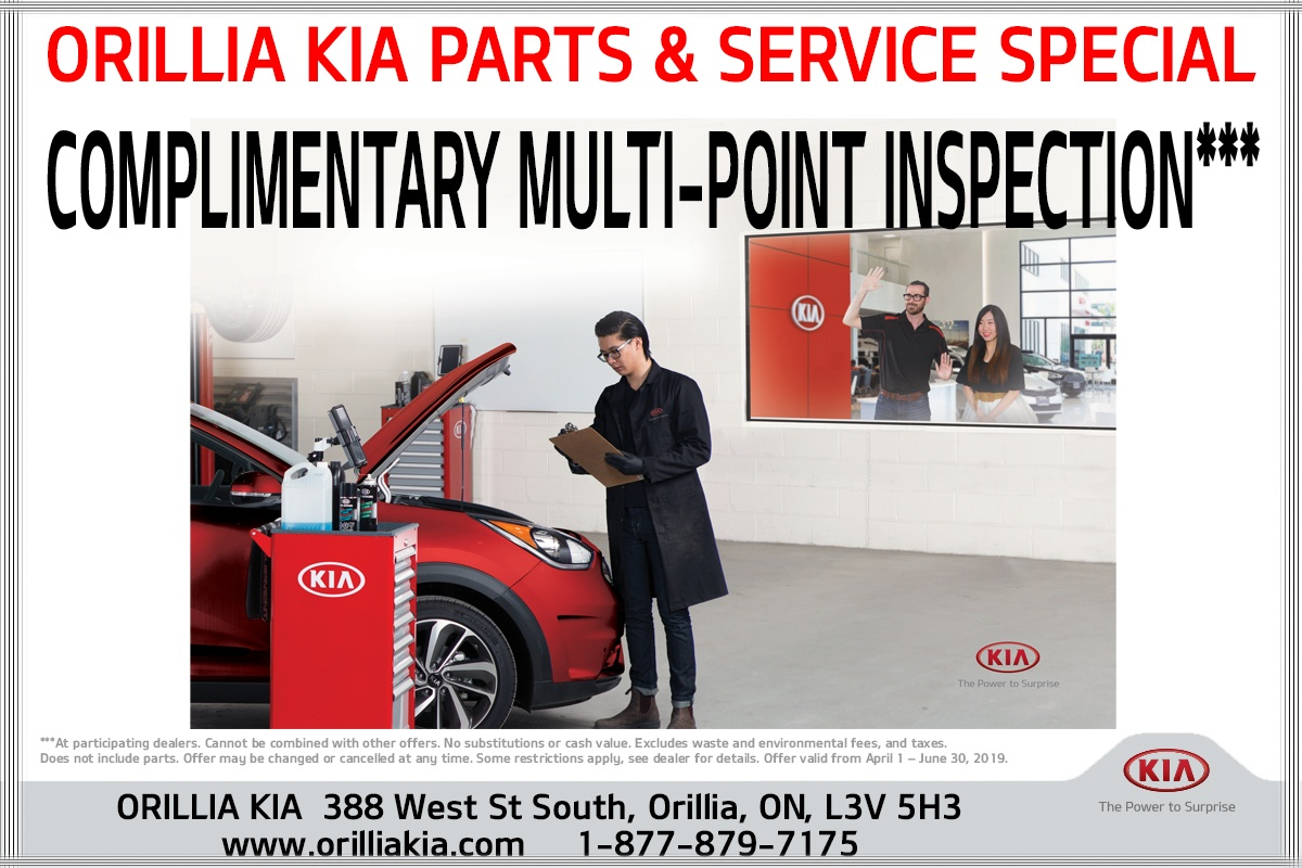 COMPLIMENTARY MULTI-POINT INSPECTION*