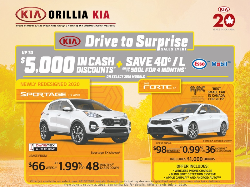 Kia Sportage and Forte Drive to Surprise Sales Event