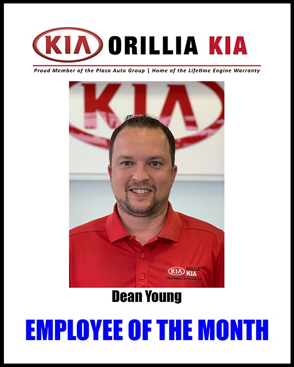 Dean Young, Employee of the Month August 2019