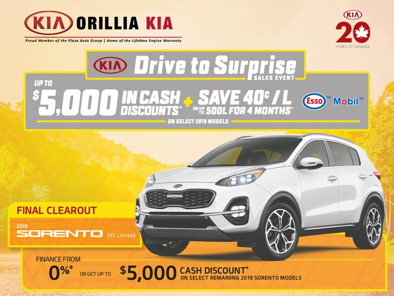 Kia Sorento Drive to Surprise Sales Event