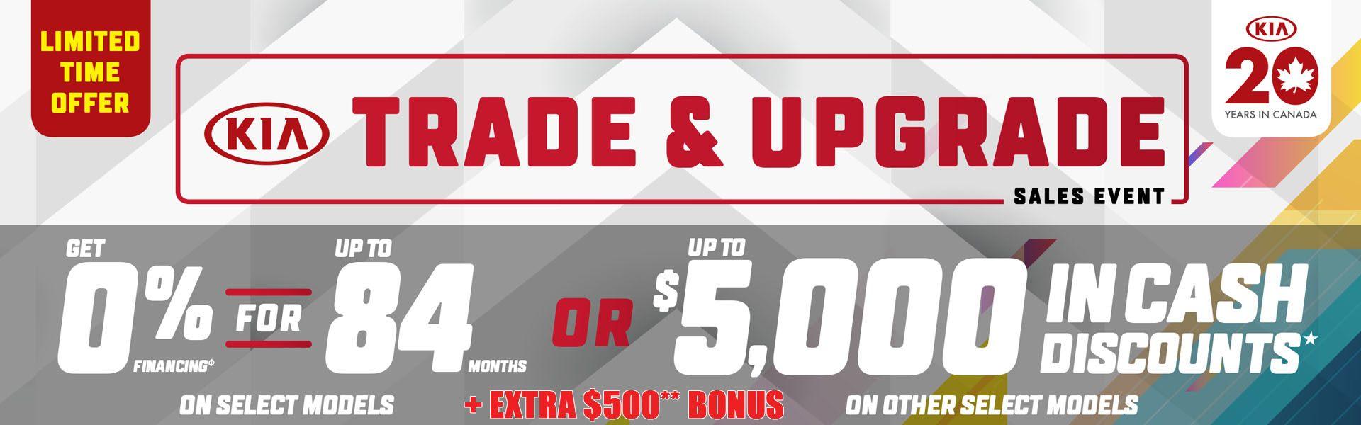 Kia Trade & Upgrade Sales Event