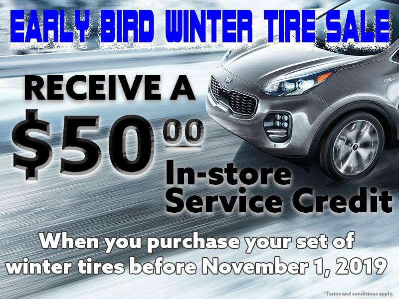 Early Bird Winter Tire Sale