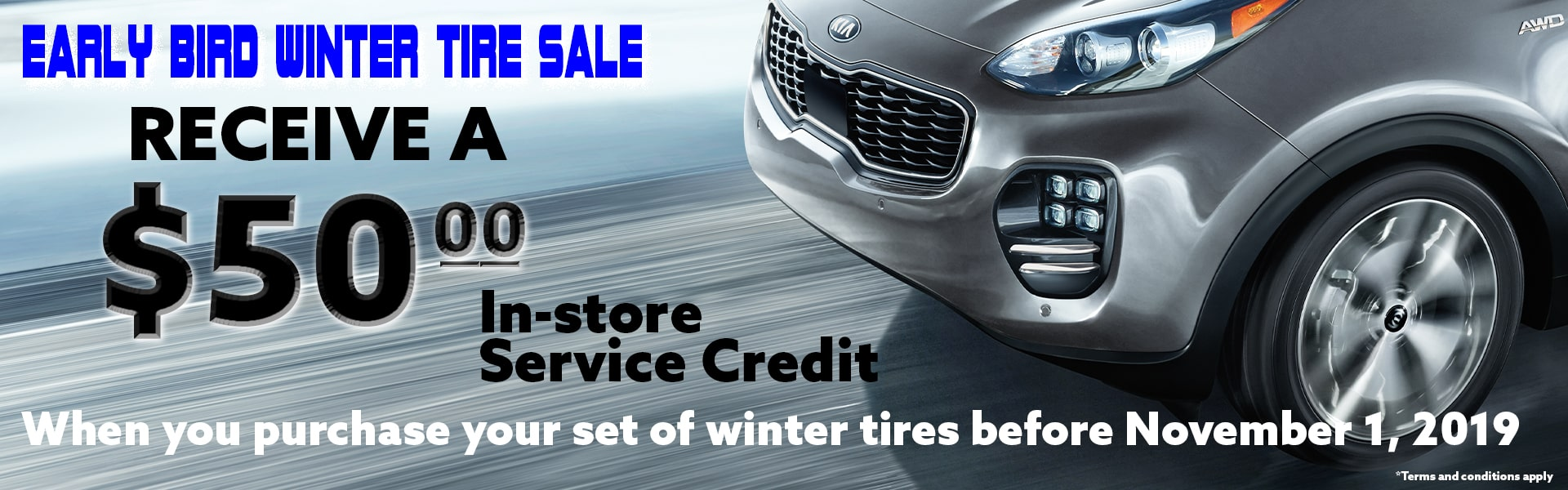Early Bird Winter Tire Sale