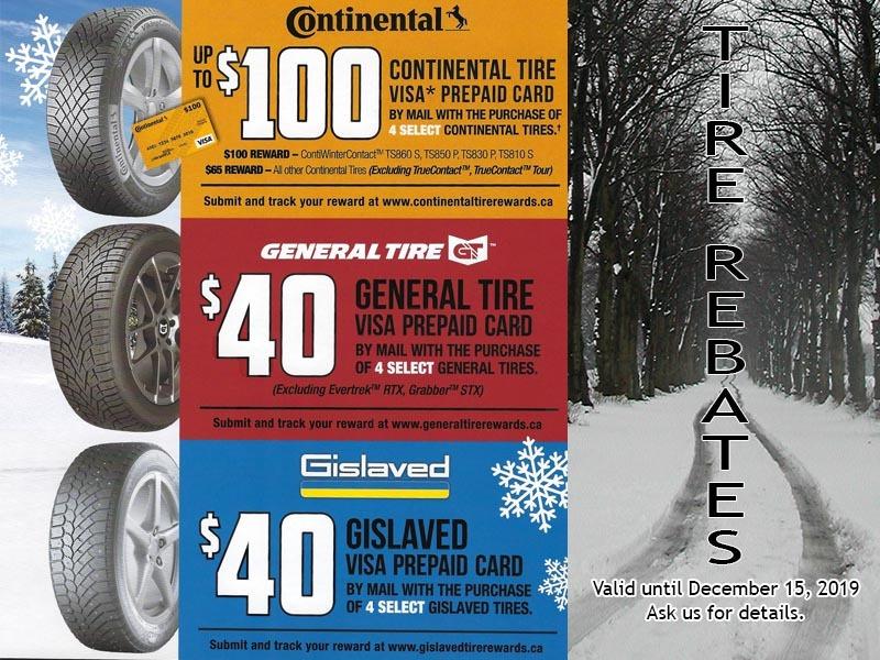 Winter Tire Mail-in Rebates