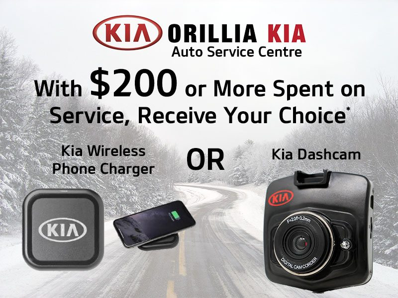 Free Gift with $200 or More Spent on Kia Service